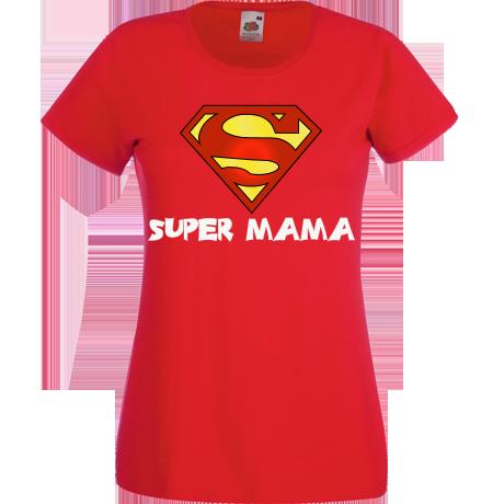 466d7101e4 zaprojektuj podobną koszulkę zgłoś naruszenie Nadruk Super MAMA Koszulka  damska Super MAMA