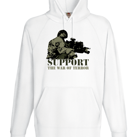 Bluza z kapturem Support the war of terror