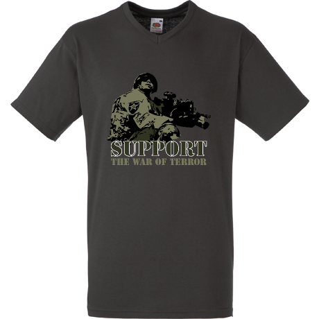 Koszulka V-neck Support the war of terror