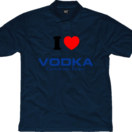 Koszulka polo I Love Vodka