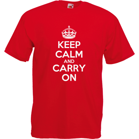 Koszulka z nadrukiem KEEP CALM AND CARRY ON