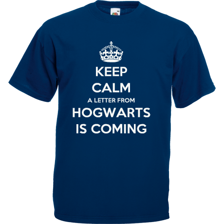 Koszulka KEEP CALM A LETTER FROM HOGWARTS IS COMING