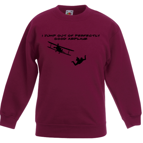 Dziecięca bluza Sky Camp Store - I jump out of perfectly good airplane