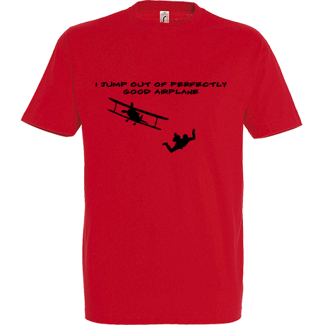 Koszulka Sky Camp Store - I jump out of perfectly good airplane