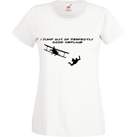 Koszulka damska Sky Camp Store - I jump out of perfectly good airplane (damska)