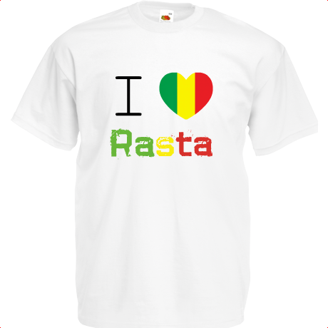 Koszulka I Love Rasta Respect T-Shirt