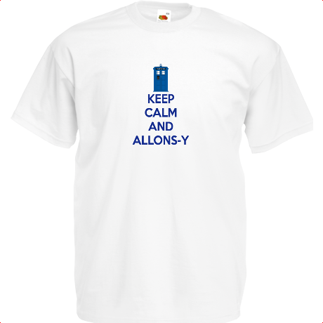 Koszulka z nadrukiem Keep Calm and Allons-y