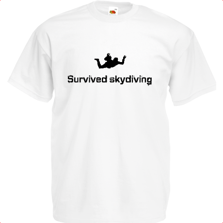 Koszulka SCS - survived skydiving (męska) white