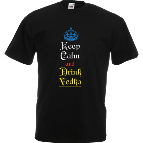Koszulka Keep Calm and Drink Vodka