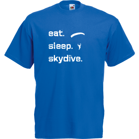 Koszulka Eat Sleep Skydive (blue/white)