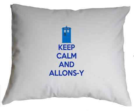 Poduszka Keep Calm and Allons-y