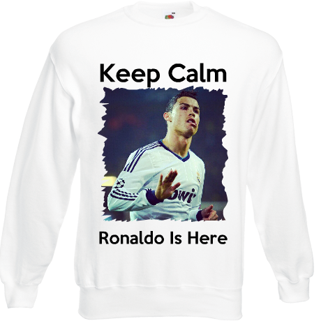 Bluza z nadrukiem Real Madryt - Keep Calm Ronaldo
