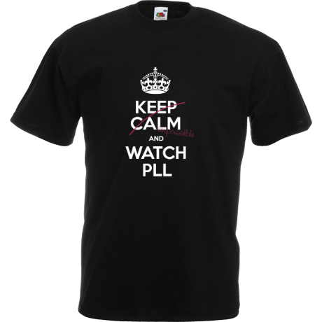 Koszulka z nadrukiem Keep Calm and Watch PLL