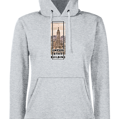 Damska bluza z kapturem Empire state building