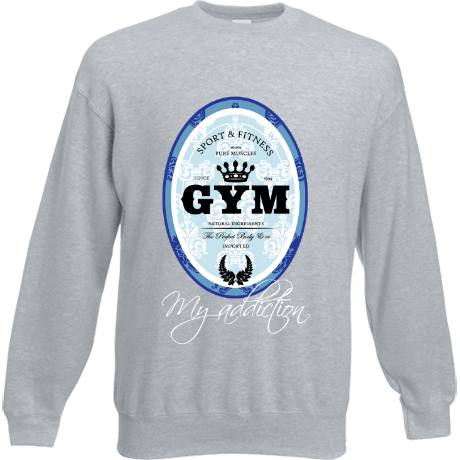 Bluza Gym is my addiction niebieski