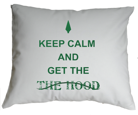 Poduszka z nadrukiem Keep Calm and Get The Hood