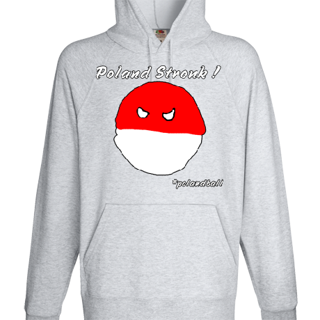 Bluza z kapturem Polandball
