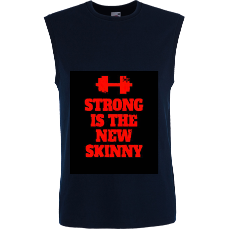 Koszulka damska bez rękawów Strong is the New Skinny - Black/ Red