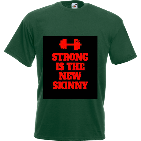 Koszulka Strong is the New Skinny - Black/ Red