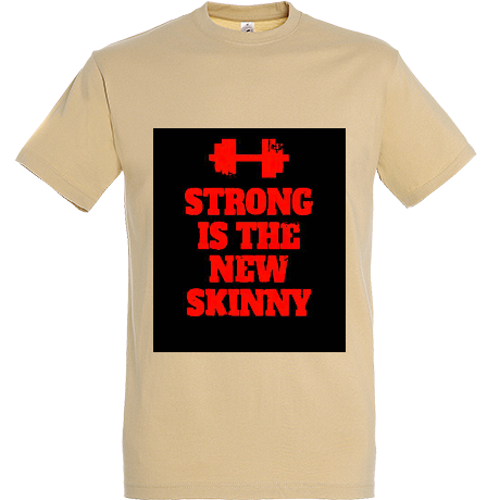 Koszulka z nadrukiem Strong is the New Skinny - Black/ Red