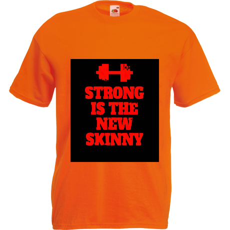 Koszulka dziecięca Strong is the New Skinny - Black/ Red