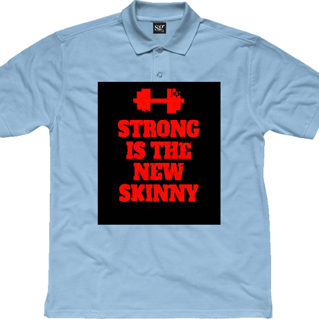 Koszulka polo Strong is the New Skinny - Black/ Red