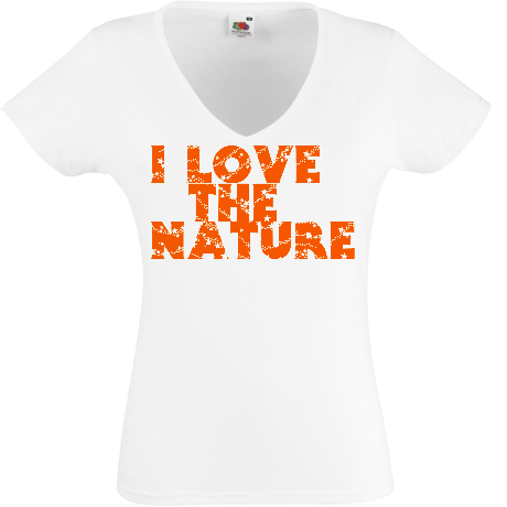 Koszulka damska V-neck i love the nature