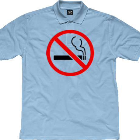 Koszulka polo T-Shirt No smoke