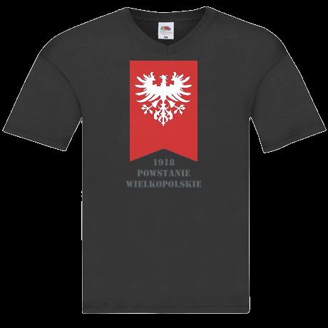 6716eda75 zaprojektuj podobną koszulkę zgłoś naruszenie Nadruk Powstanie Wielkopolskie  męska Koszulka V-neck Powstanie Wielkopolskie męska