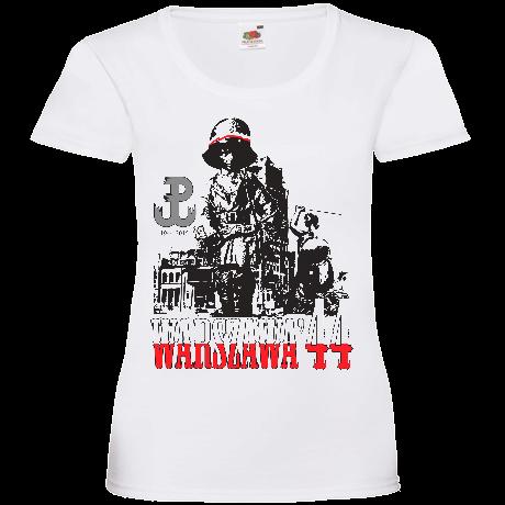 790bda5dc750 Powstanie Warszawskie damska biała   Koszulki - sklep Koszulkomat