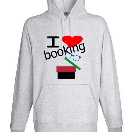 Bluza z kapturem I love booking