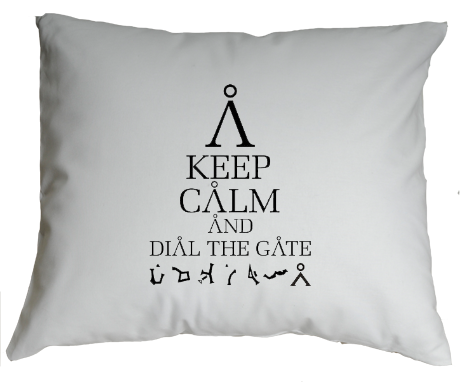 Poduszka Keep Calm and Dial The Gate
