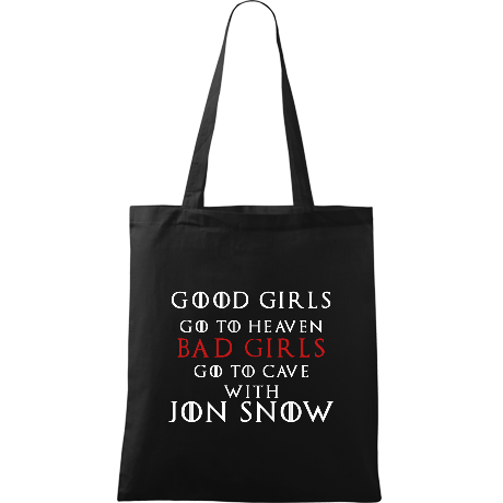 Torba Good Girls Go to Heaven, Bad Girls Go To Cave with Jon Snow