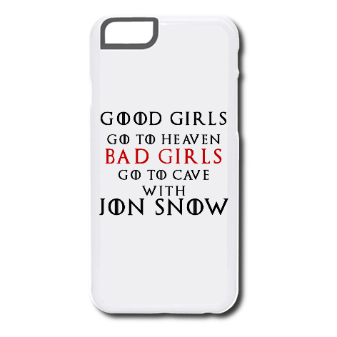 Etui na telefon Good Girls Go to Heaven, Bad Girls Go To Cave with Jon Snow