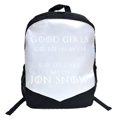 Plecak Good Girls Go to Heaven, Bad Girls Go To Cave with Jon Snow