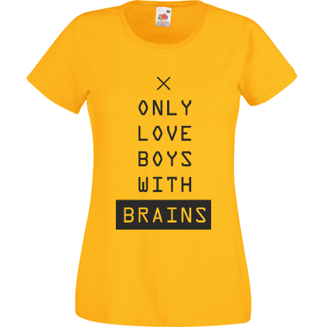 Koszulka damska only love boys with brains