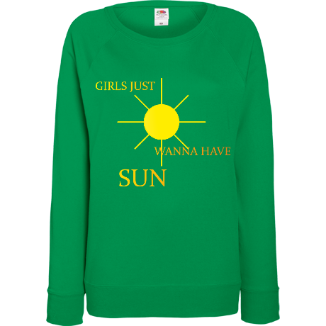 Damska bluza z nadrukiem girls just wanna have sun