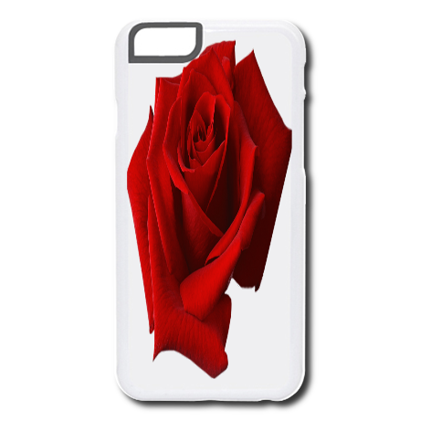Etui na telefon Rose red ETUI iPhone 6/6S Plastikowe