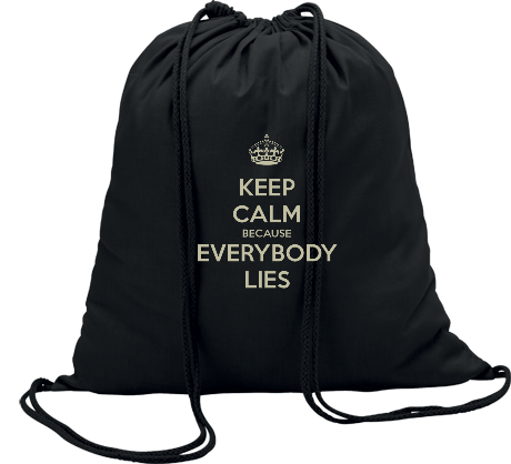 Worek Keep Calm because Everybody Lies