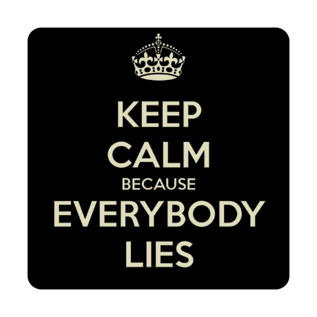 Foto magnes z nadrukiem Keep Calm because Everybody Lies
