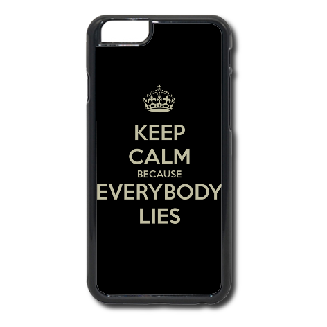 Etui na telefon z nadrukiem Keep Calm because Everybody Lies