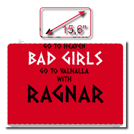 Naklejka na laptopa Good Girls Go To Haven Bad Girls Go To Valhalla With Ragnar