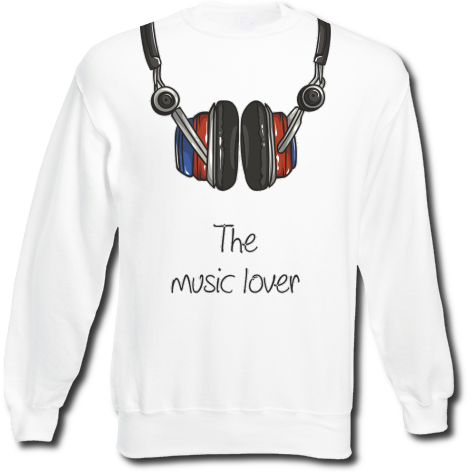 Bluza fullprint The music lover