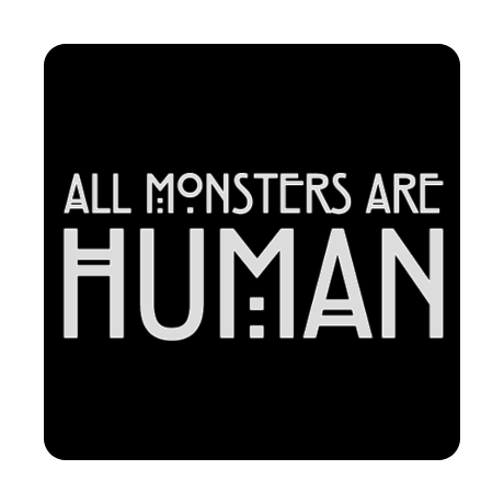 Foto magnes z nadrukiem All Monsters Are Human