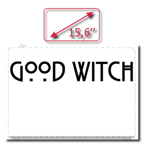 Naklejka na laptopa z nadrukiem Good Witch