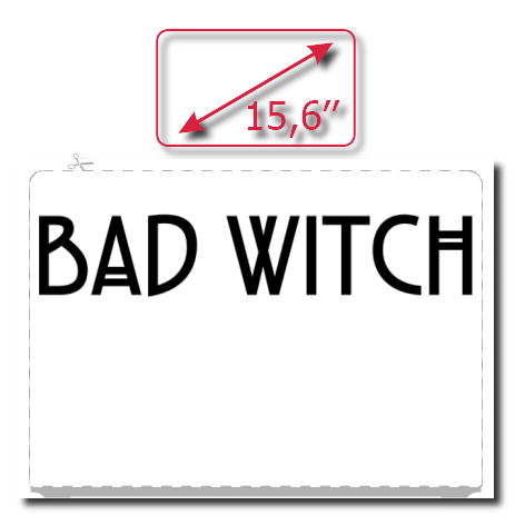 Naklejka na laptopa Bad Witch