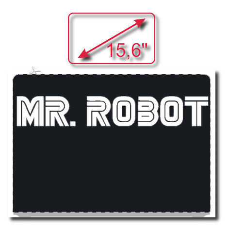 Naklejka na laptopa Mr. Robot Logo