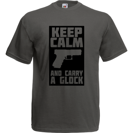 Koszulka Keep calm & carry a glock #2