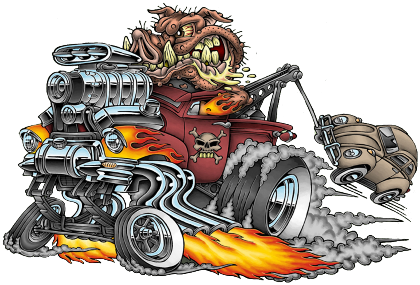 Nadruk HOT ROD