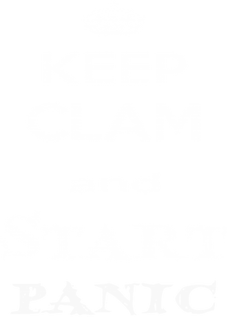 Nadruk Keep clam and start panic